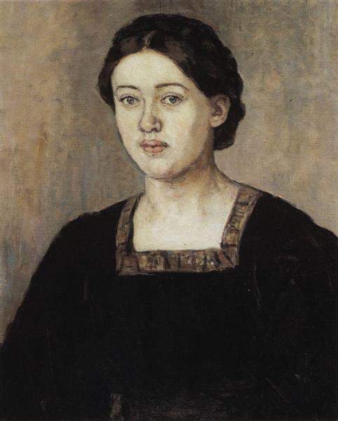 Portrait of A. A. Dobrinskaya, 1911 - Vasily Surikov