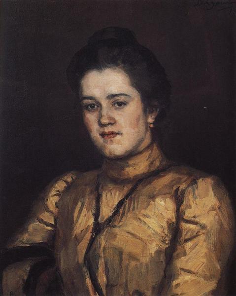 Портрет А. И. Емельяновой, 1903 - Василий Суриков
