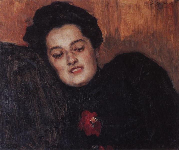 Portrait of A. I. Yemelyanova, 1909 - Vasily Surikov