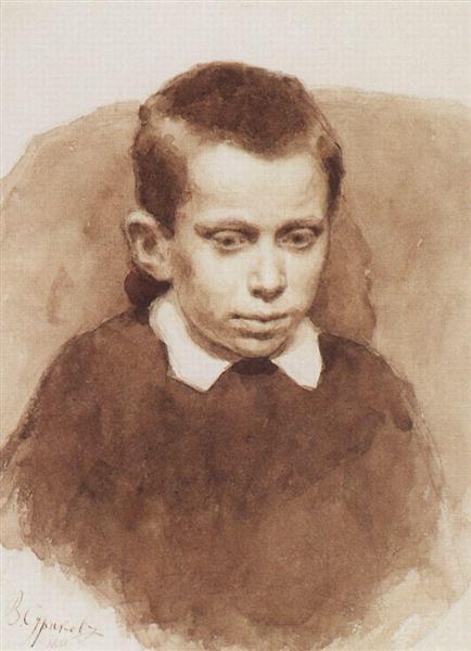 Portrait of A. S. Matveev in childhood, 1881 - Vasily Surikov