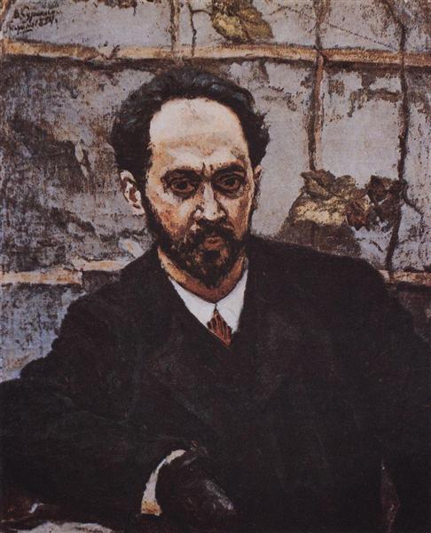 Portrait of I. E. Krachkovsky, 1884 - Vasily Surikov