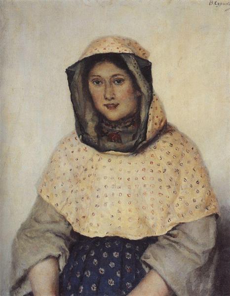 Portrait of T. K. Domozhilova, 1891 - Vasily Surikov