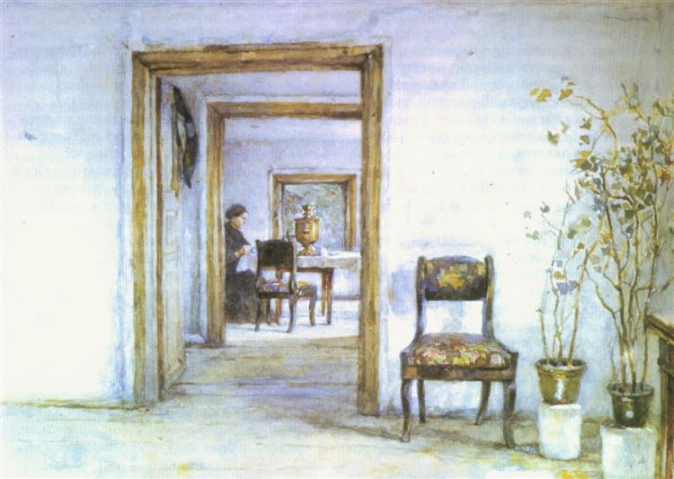 Room in Surikov's house, c.1890 - Vasily Surikov