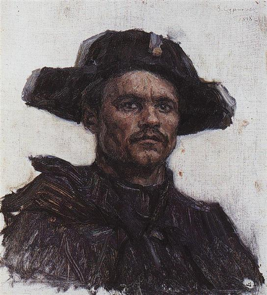 The head of soldier-drummer, 1898 - Wassili Iwanowitsch Surikow