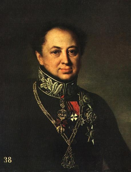 Portrait of D. P. Tatishchev, 1838 - Vasily Tropinin