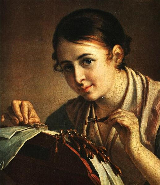 The Lacemaker - Vasily Tropinin