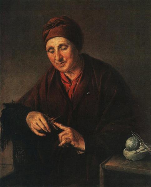 Ukrainian woman in namitke, 1820 - Василь Тропінін