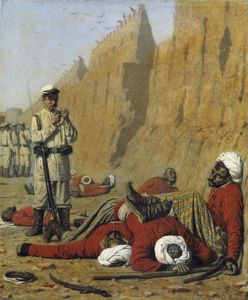 After failure, 1868 - Vasily Vereshchagin