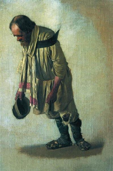 Burlak with the cap in his hand, 1866 - Vasily Vereshchagin
