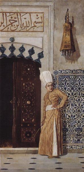 Eunuch at the door of the harem, 1870 - Vasily Vereshchagin