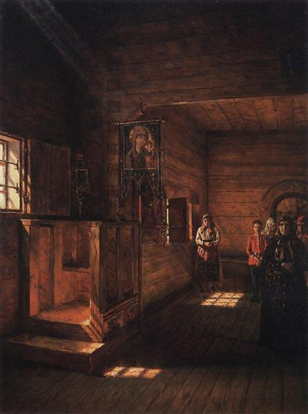 Interior of the Church of St. John the Evangelist on the Ishna near Rostov Yaroslavsky, 1888 - Vasily Vereshchagin