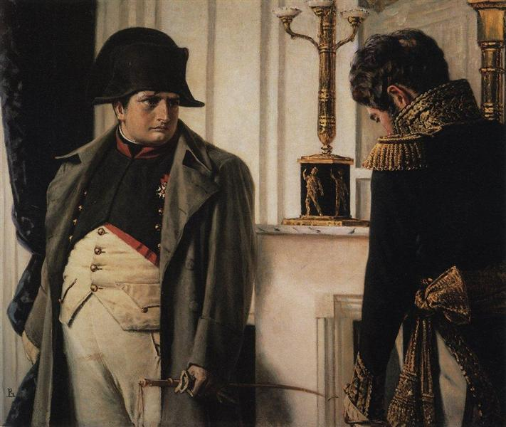 Napoleon and general Lauriston ( Peace at all costs), 1899 - 1900 - Vasily Vereshchagin