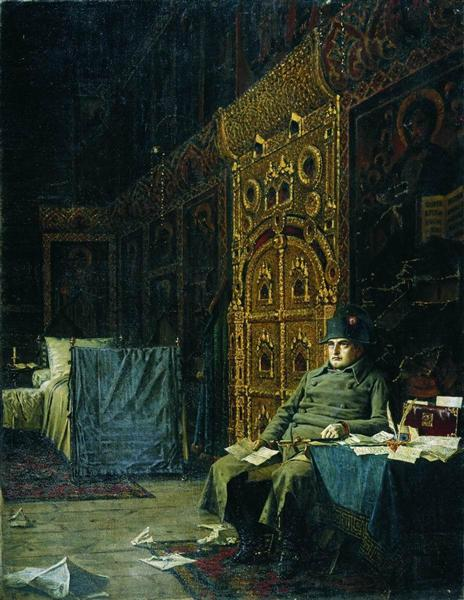 On the Way. Bad News From France, 1887 - 1895 - Vasily Vereshchagin