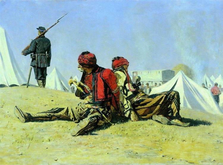 Two hawks (Bashi-bazouk), 1878 - 1879 - Vasily Vereshchagin