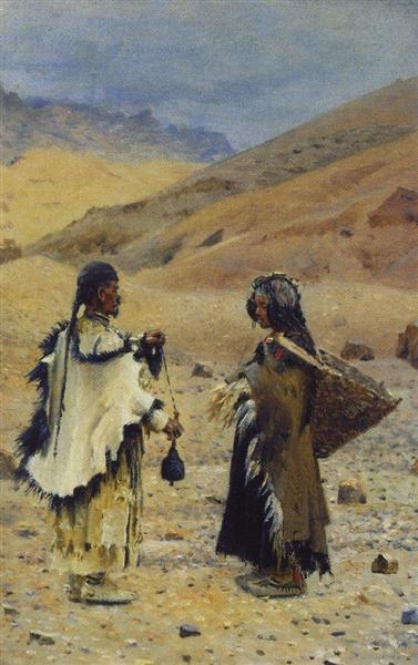 Жителі Західного Тибету, 1874 - 1876 - Василь Верещагін