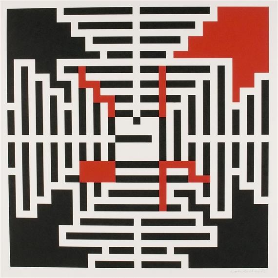 Geometrische Komposition, 1982 - Verena Loewensberg