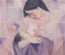 Mother and Child - Vicente Manansala