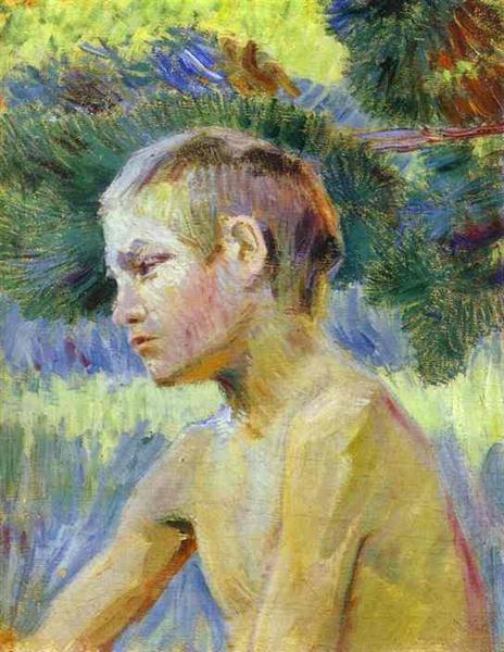 Boy Seated, 1901 - Victor Borisov-Musatov