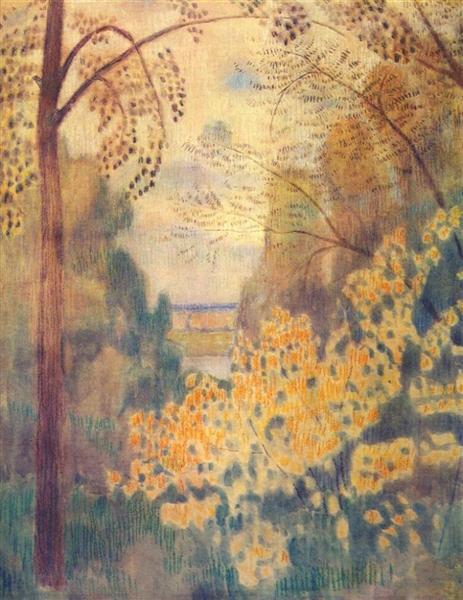 Hazel Bush, 1905 - Victor Borisov-Musatov