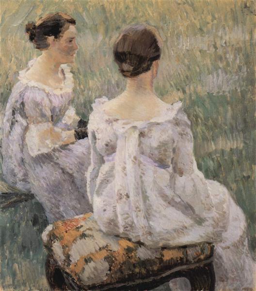 Two Ladies, 1899 - Victor Borisov-Musatov