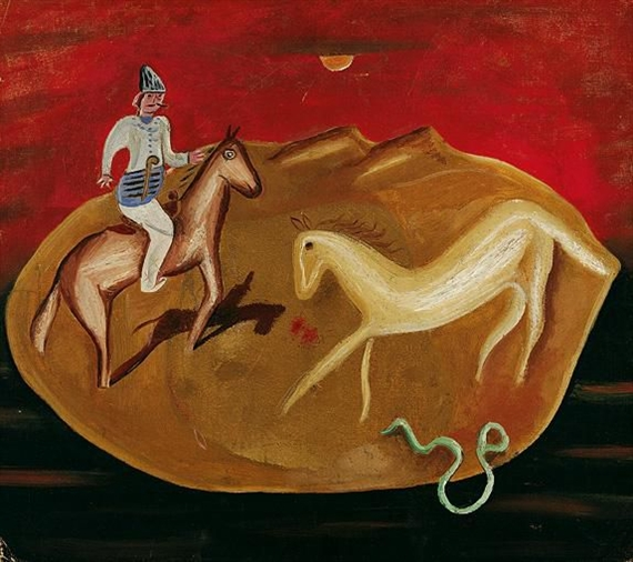 Knight, White Horse and Snake, 1925