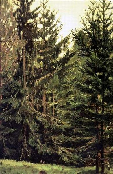 Edge of the spruce forest, 1881 - Viktor Vasnetsov