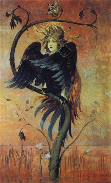 Gamaun, The prophetic bird, 1897 - Wiktor Michailowitsch Wasnezow