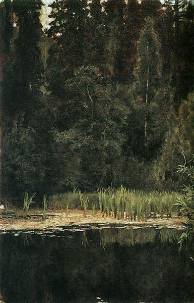 Pond in Akhtyrka, 1880 - Viktor Vasnetsov