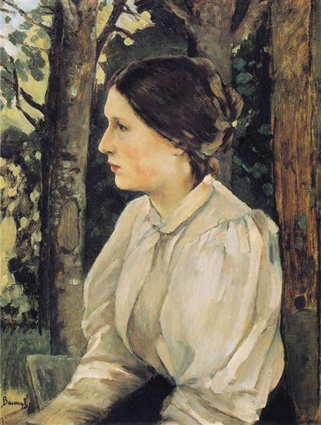 Portrait of Tatyana Vasnetsova, the Artist`s Daughter, 1897 - Viktor Vasnetsov