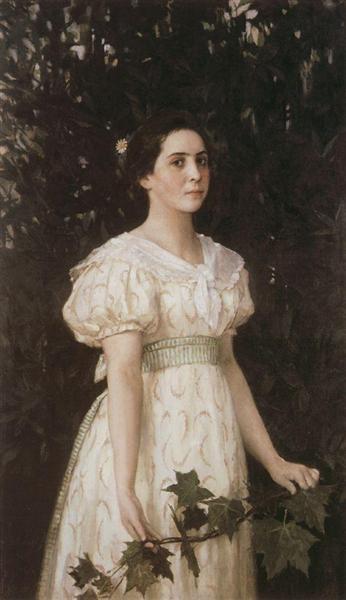Portrait of Vera Savvishna Mammoth, 1896 - Víktor Vasnetsov