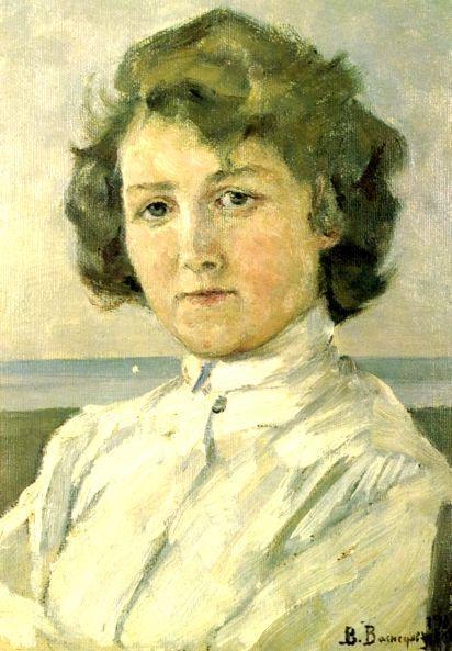 Portrait of Zinaida Median, 1909 - Viktor Vasnetsov