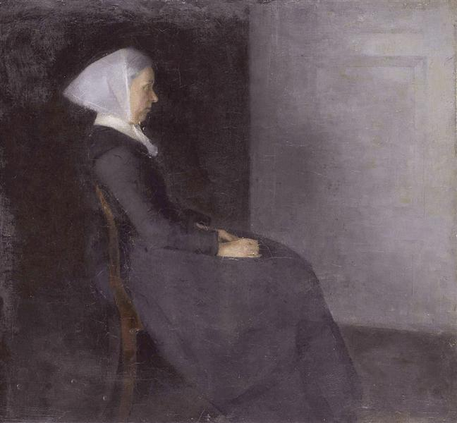 Frederikke Hammershøi, the artist's mother, 1886 - Vilhelm Hammershoi