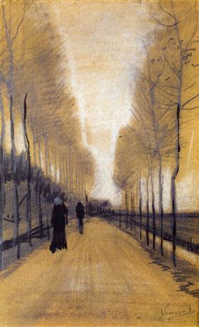 Callejón Rodeado por los árboles, Vincent van Gogh