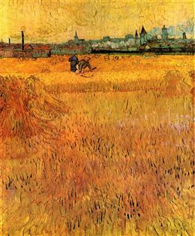 Arles Vista desde los campos de trigo, Vincent van Gogh