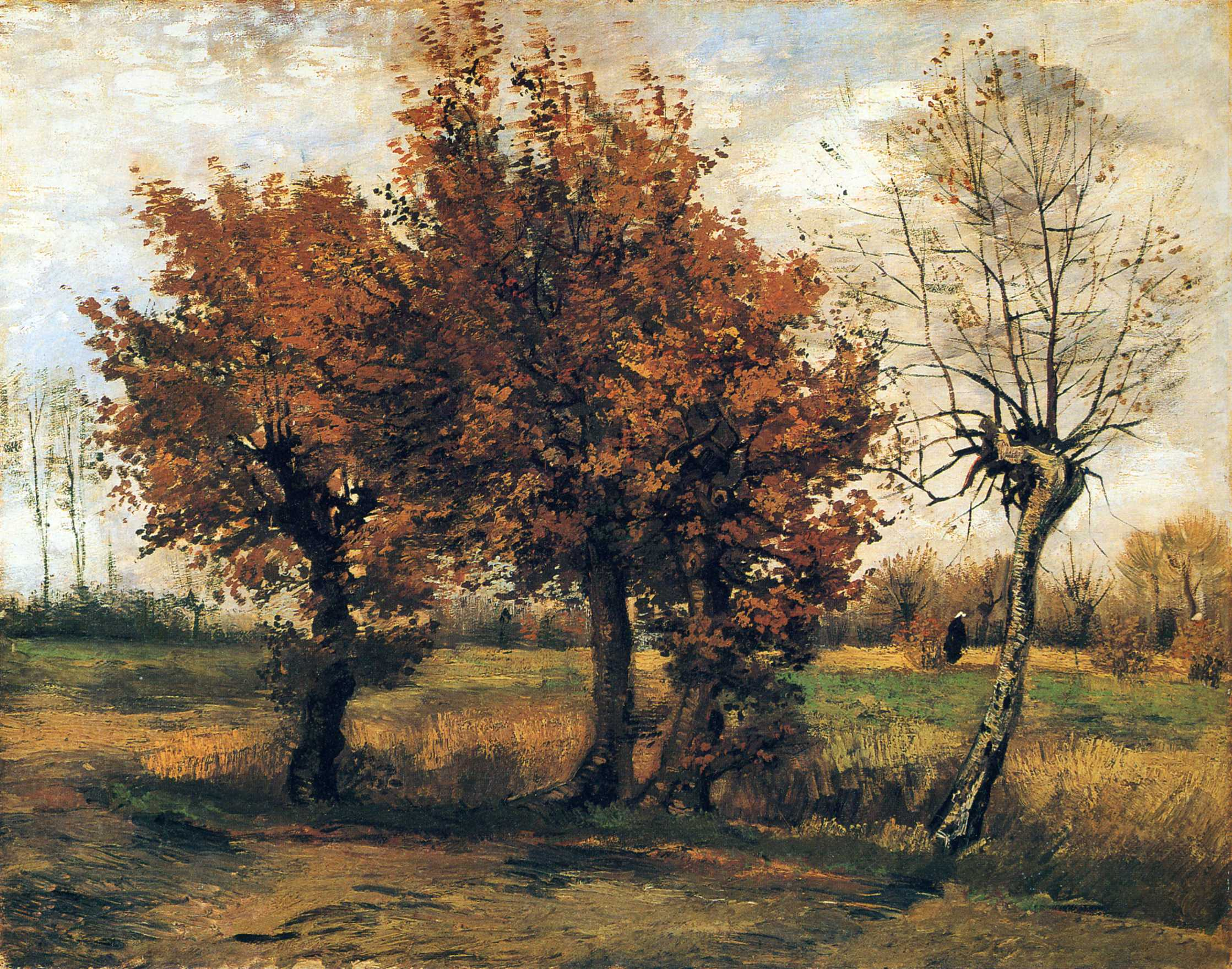 Eye candy for today van gogh autumn landscape lines and for Landscape trees
