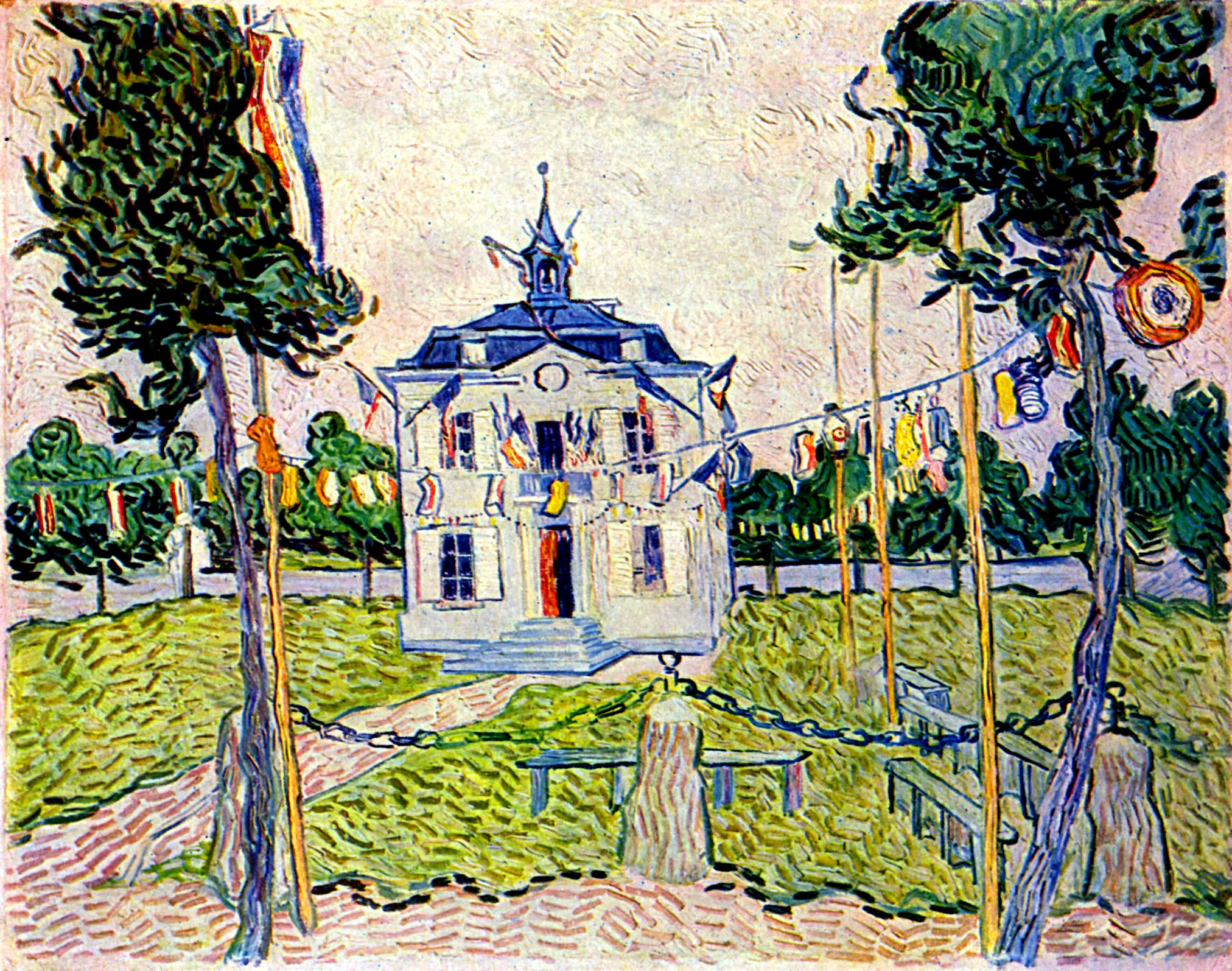 Auvers Town Hall in 14 July 1890 - Vincent van Gogh - WikiPaintings.vincent town