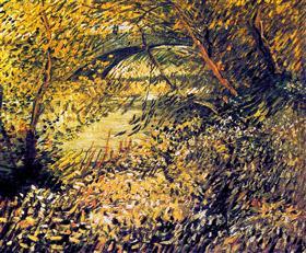 Bancos del Sena en la primavera, Vincent van Gogh