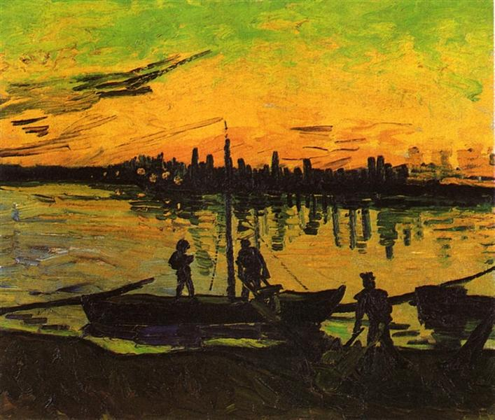 Coal Barges, 1888 - Vincent van Gogh