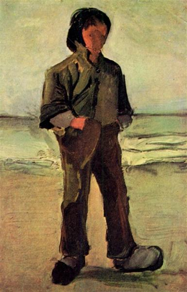 Fisherman On The Beach 1882 Vincent Van Gogh Wikiart Org