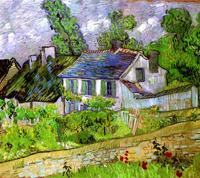 Houses in Auvers, 1890 - Vincent van Gogh