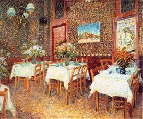 Interior de un restaurante, Vincent van Gogh