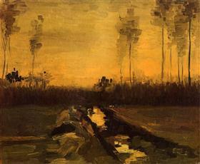 Paisaje en la oscuridad, Vincent van Gogh