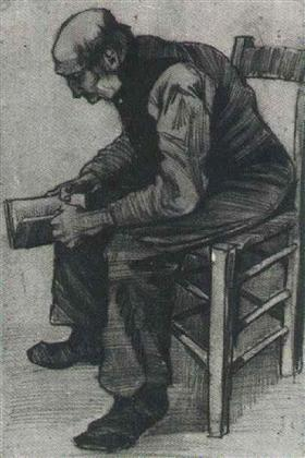Man, Sitting, Reading a Book - Vincent van Gogh