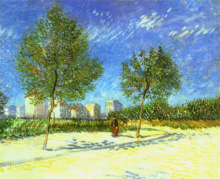 On the Outskirts of Paris, 1887 - Vincent van Gogh