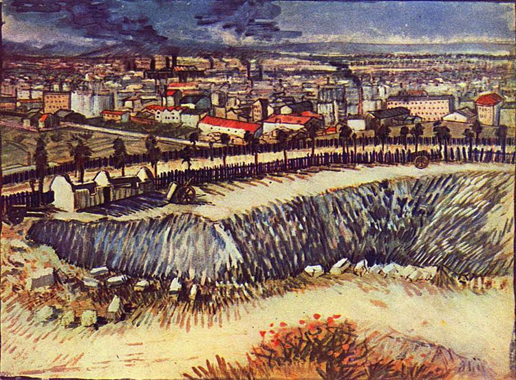 Outskirts of Paris near Montmartre, 1887 - Вінсент Ван Гог