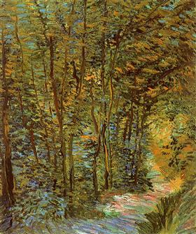 Trayectoria en las maderas, Vincent van Gogh