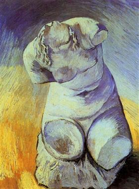 Figurilla del yeso de un torso femenino, Vincent van Gogh