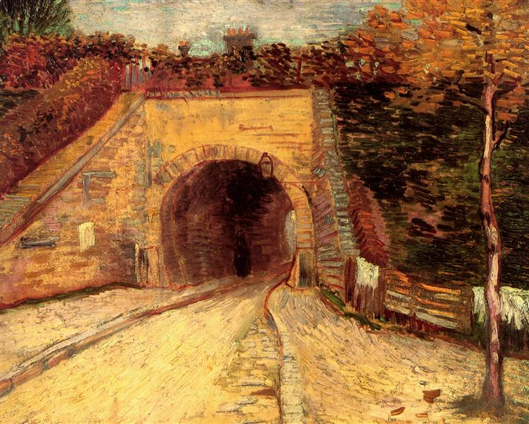 Roadway with Underpass The Viaduct, 1887 - Vincent van Gogh