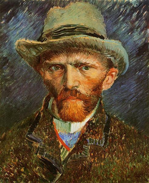 Self Portrait with a Grey Felt Hat, 1887 - Vincent van Gogh
