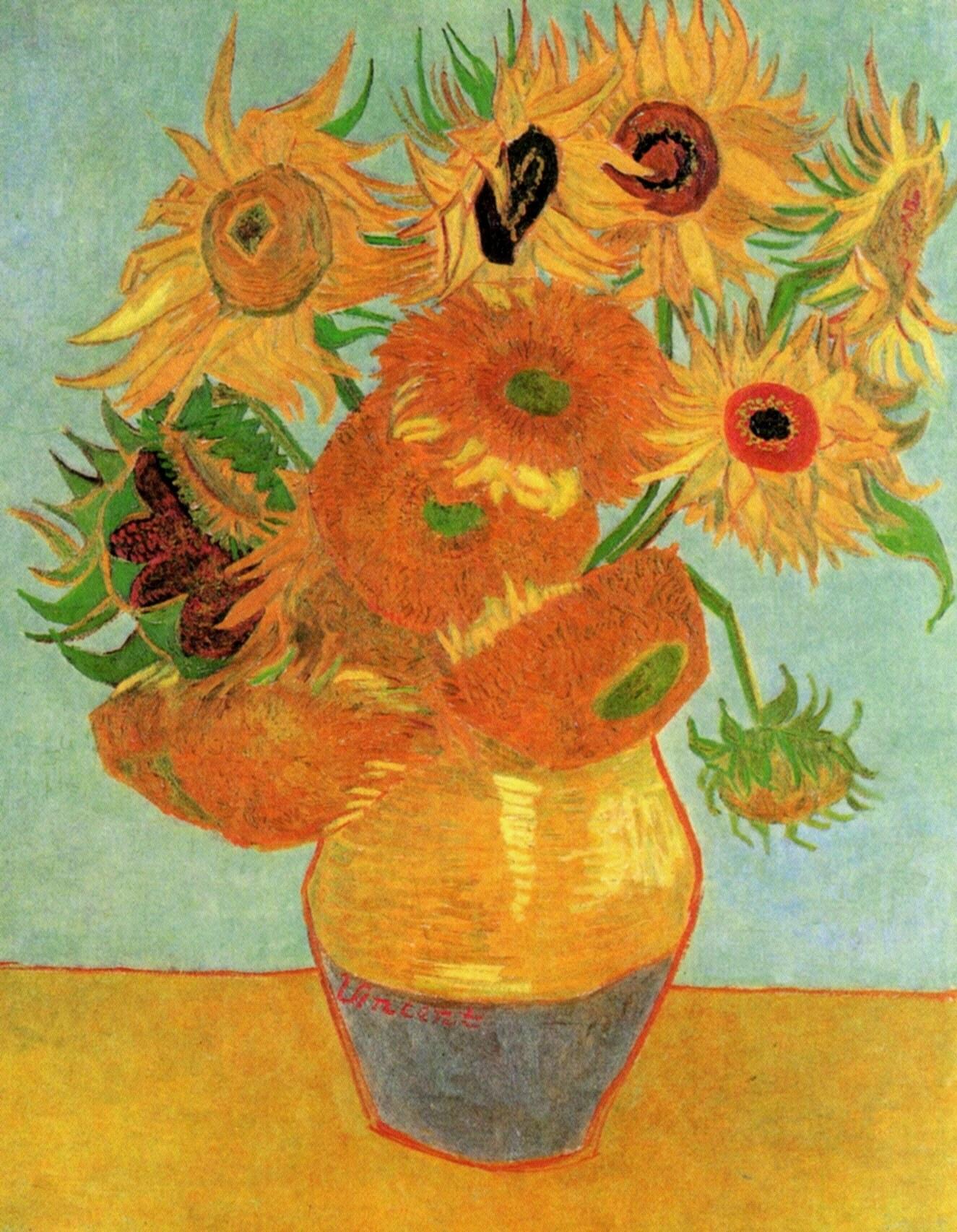 Still Life Vase With Twelve Sunflowers C 1889 Vincent
